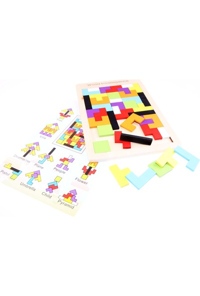Akademiloji Ahşap Blok Tetris Oyunu