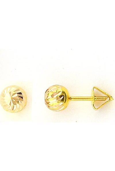 Cigold 14 Ayar Çivili Çocuk Küpesi K1Küp0,90000484