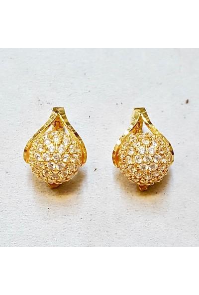 Cigold 22 Ayar Taşlı Küpe K1Küp0630000679