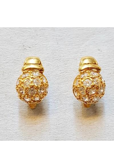 Cigold 22 Ayar Taşlı Küpe K1Küp0624000678