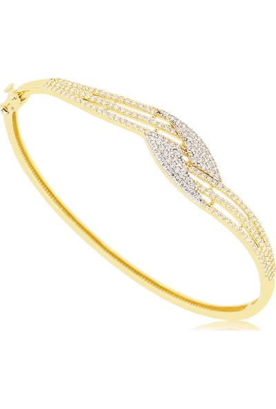 Cigold 14 Ayar Taşlı Kelepce K1Klp8,05000433