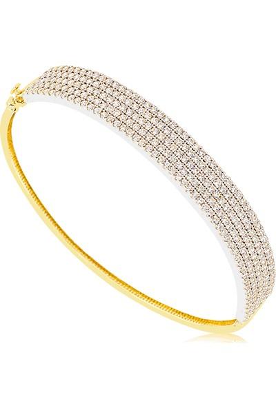 Cigold 14 Ayar Taşlı Kelepce K1Klp000443