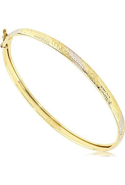 Cigold 14 Ayar Taşsız Kelepce K1Klp000429