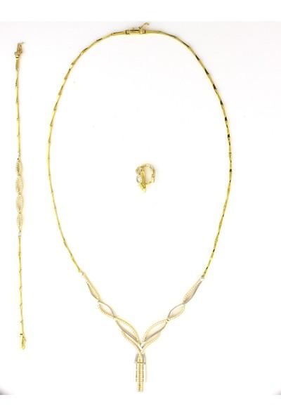 Cigold 14 Ayar Taşlı Gerdanlık Takımı K1Ger17,80000503