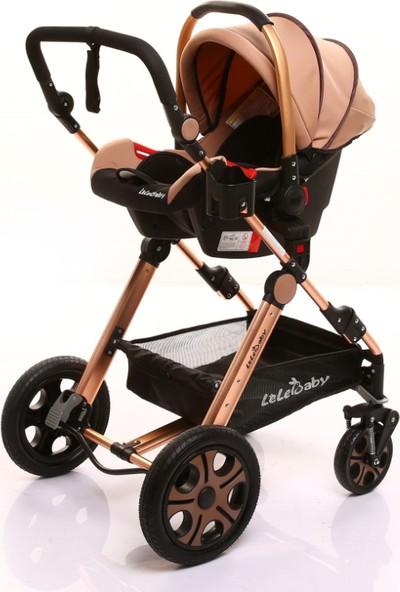 Lelebaby Ligou Travel Sistem Bebek Arabası Puset Set - Kahverengi