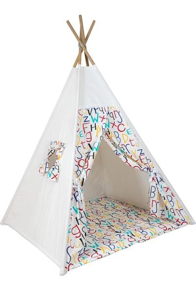 Bliss Ahşap Kızılderili Oyun Çadırı Oyun Evi Harfli