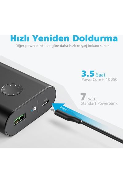 Anker PowerCore+ 10050 mAh Quick Charge 3.0 Taşınabilir Hızlı Şarj Cihazı PowerBank - Siyah - A1311H11