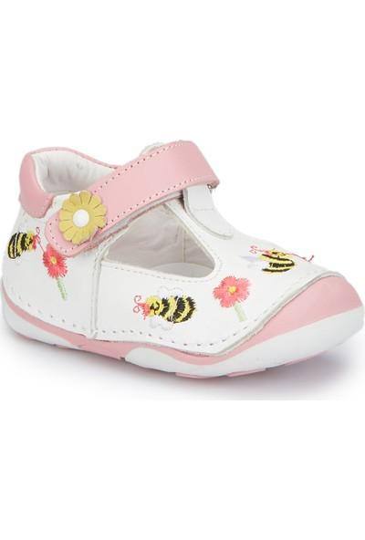 Polaris 81.510003.I Beyaz Kız Çocuk Deri Sneaker
