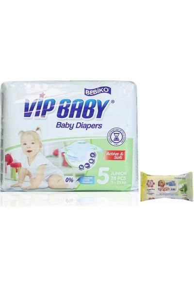 Vip Baby Active & Soft 5 Numara Junior 28 Adet Bebek Bezi