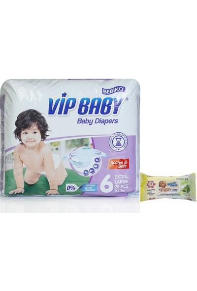 Vip Baby Active&Soft 6 Numara Extra Large 25 Adet Bebek Bezi