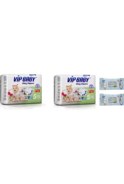 Vip Baby Active & Soft 5 Numara Junior 56 Adet Bebek Bezi + Islak Mendil