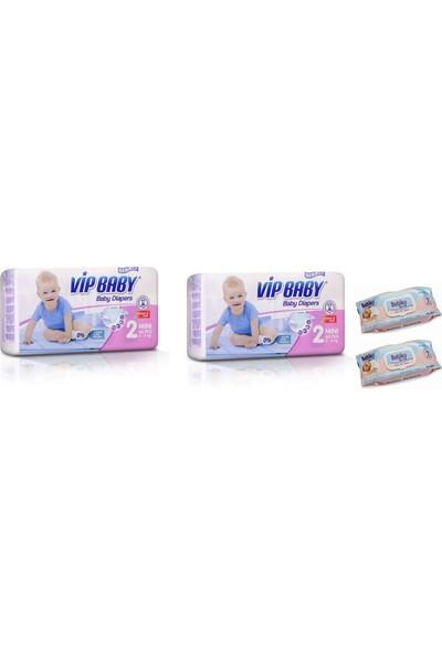 Vip Baby Active&Soft 2 Numara Mini 80 Adet Bebek Bezi + Islak Mendil