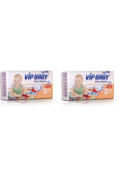 Vip Baby Active&Soft 3 Numara Midi 72 Adet Bebek Bezi