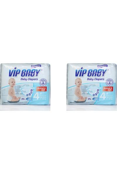 Vip Baby Active&Soft 4 Numara Maxi Plus 60 Adet Bebek Bezi