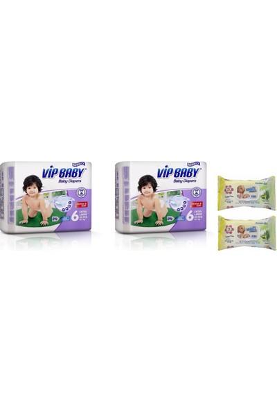 Vip Baby Active&Soft 6 Numara Extra Large 50 Adet Bebek Bezi + Islak Mendil