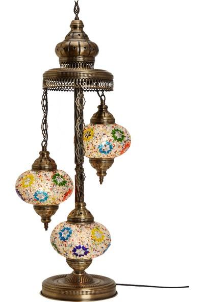 Demmex Otantik Lambader Ayaklı Mozaik Lamba Gece Dekor Köşe Lambası