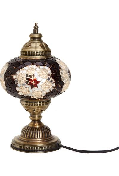 Demmex Masaüstü Mozaik Çalışma Masası Abajur Gece Lambası Dekor Lamba
