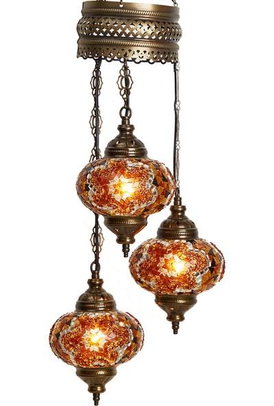 Demmex Otantik Tavan Sarkıt Avize Mozaik Lamba Gece Lambası Dekor Lamba