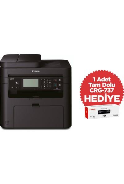 Canon MF237W Fotokopi + Tarayıcı + Faks + Airprint Lazer Yazıcı +1 Adet Ekstra Tam Dolu Toner