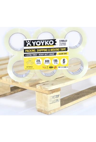 Yoyko Koli Bandı Ahtapot Şeffaf 45mm X 100 metre 66 micron 1 Adet
