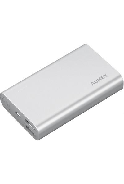 AUKEY PB-AT10 10050 mAh Gümüş Powerbank Qualcomm 3.0 Hızlı Şarj & Micro Ai Power