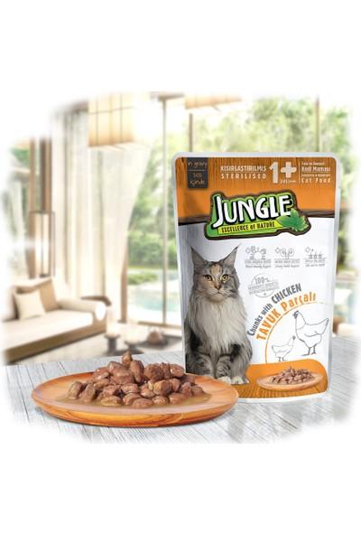 Jungle Pouch Kısır Kedi Tavuklu 22 Ad. Soslu Yaş