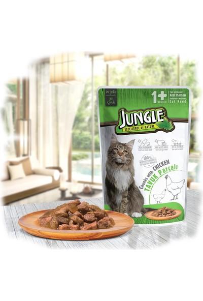 Jungle Pouch Kedi Tavuklu 22 Ad. Jelli Yaş Mama 10