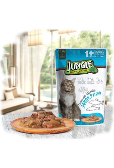Jungle Pouch Kedi Somonlu Jelli Yaş Mama x 22 Adet