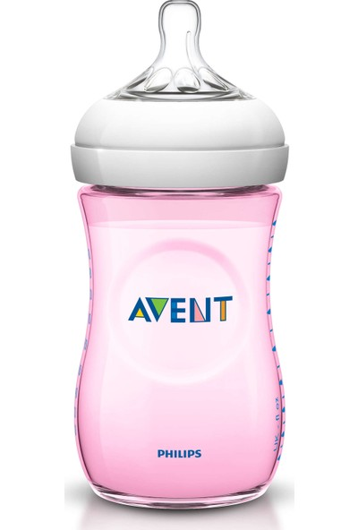 Philips Avent Natural PP Biberon 260 ml Tekli - Pembe
