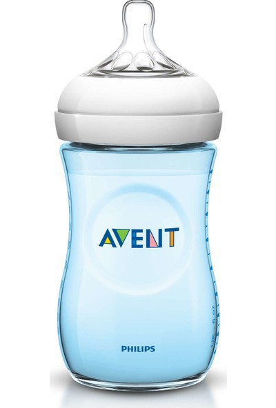 Philips Avent Natural PP Biberon 260 ml Tekli - Mavi