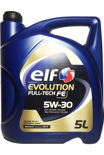 Elf Evolutıon Fulltech FE 5W30 5 Litre Motor Yağ (Üretim yılı:2019)
