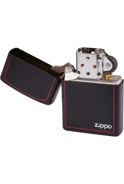 Zippo Black Matte with Border Benzinli Çakmak / 218 ZB