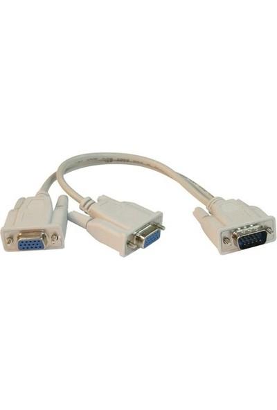 Flaxes FCK-V2V VGA Çoklayıcı Kablo 1*2