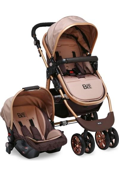 Babybee 540 Gold 3'lü Travel Sistem Bebek Arabası Kahverengi