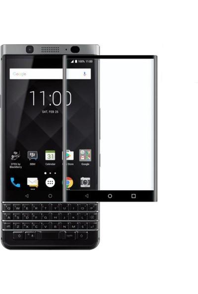 Microcase Blackberry Keyone 3D Curved Full Tempered Glass Ekran Koruyucu