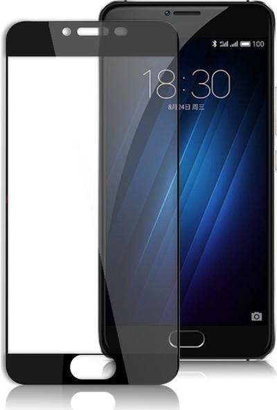 Microcase Meizu M6 Tam Kaplayan Tempered Glass Cam Ekran Koruyucu