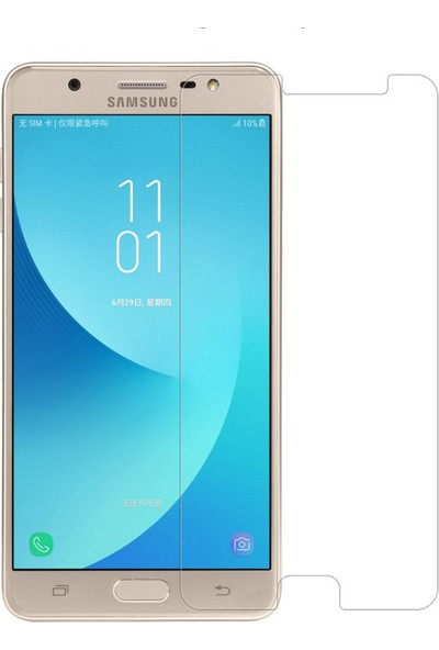Microcase Samsung Galaxy J7 Max Tempered Glass Cam Ekran Koruyucu