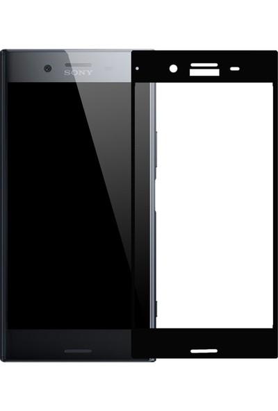 Microcase Sony Xperia XZ Çerçeveli Tempered Glass Cam Ekran Koruyucu