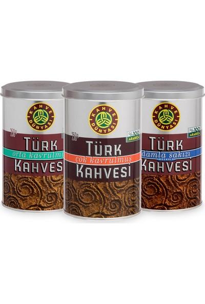 Kahve Dünyası 250 gr Türk Kahvesi Deneme Paketi 3'lü