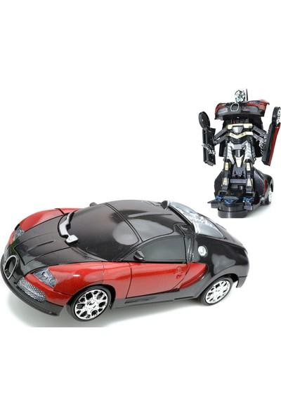 Powerhob Bugatti Oyuncak Robot Dönüşen Araba Otomatik Direksiyon