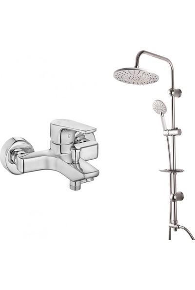 Eca Niobe Banyo Bataryası + Modamix Arjantin Tepe Duş Seti