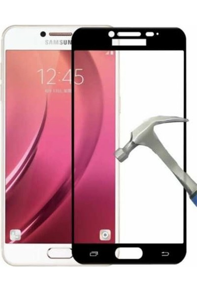 Gpack Samsung Galaxy C7 Pro Renkli Cam Ekran Koruyucu