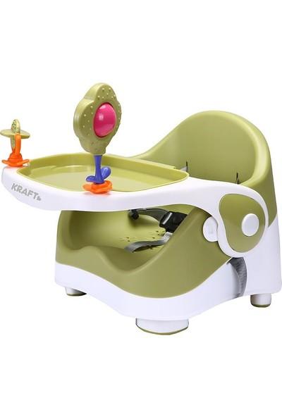 Kraft BS101 Oyuncaklı Booster Mama Sandalyesi Yeşil