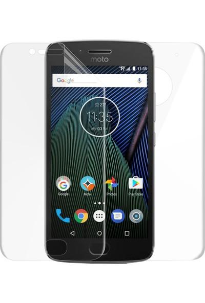 Microsonic Motorola Moto G5 Ön + Arka Kavisler Dahil Tam Ekran Kaplayıcı Film