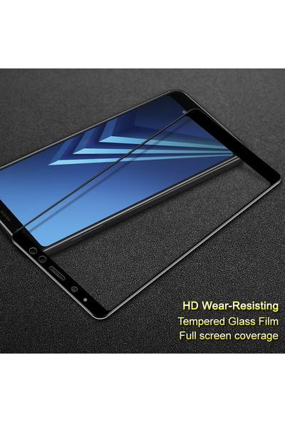 Microsonic Samsung Galaxy A8 2018 Tam Kaplayan Temperli Cam Ekran koruyucu Film