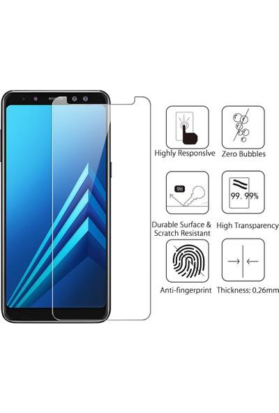 Microsonic Samsung Galaxy A8 Plus 2018 Temperli Cam Ekran koruyucu film