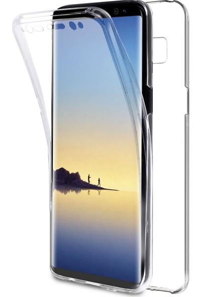 Microsonic Samsung Galaxy Note 8 Kılıf 6 tarafı tam full koruma 360 Clear Soft Şeffaf