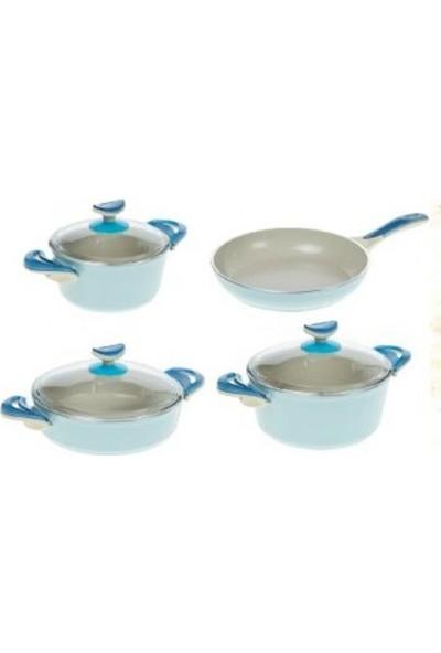 Karaca Ilgın Ceramica 7 Parça Mavi
