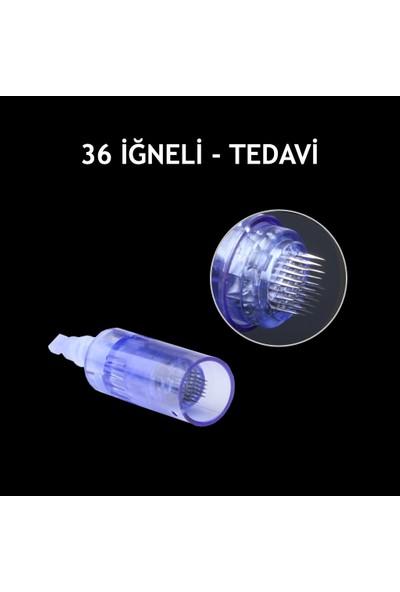 Dr.Pen 10 Adet Dermapen İğnesi Dermapen Cihazları İçin Mavi İğne Kartuşu