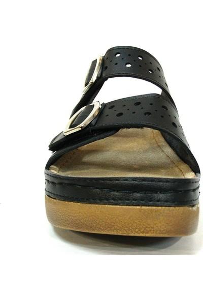 Paprika 84817 Siyah Anatomik Comfort Kadın Terlik